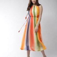Tie & Dye Gown Dress
