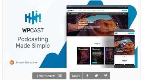 Wpcast - Audio Podcast WordPress Theme