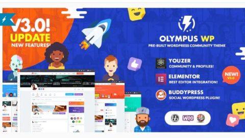 Olympus - Social Networking WordPress Theme
